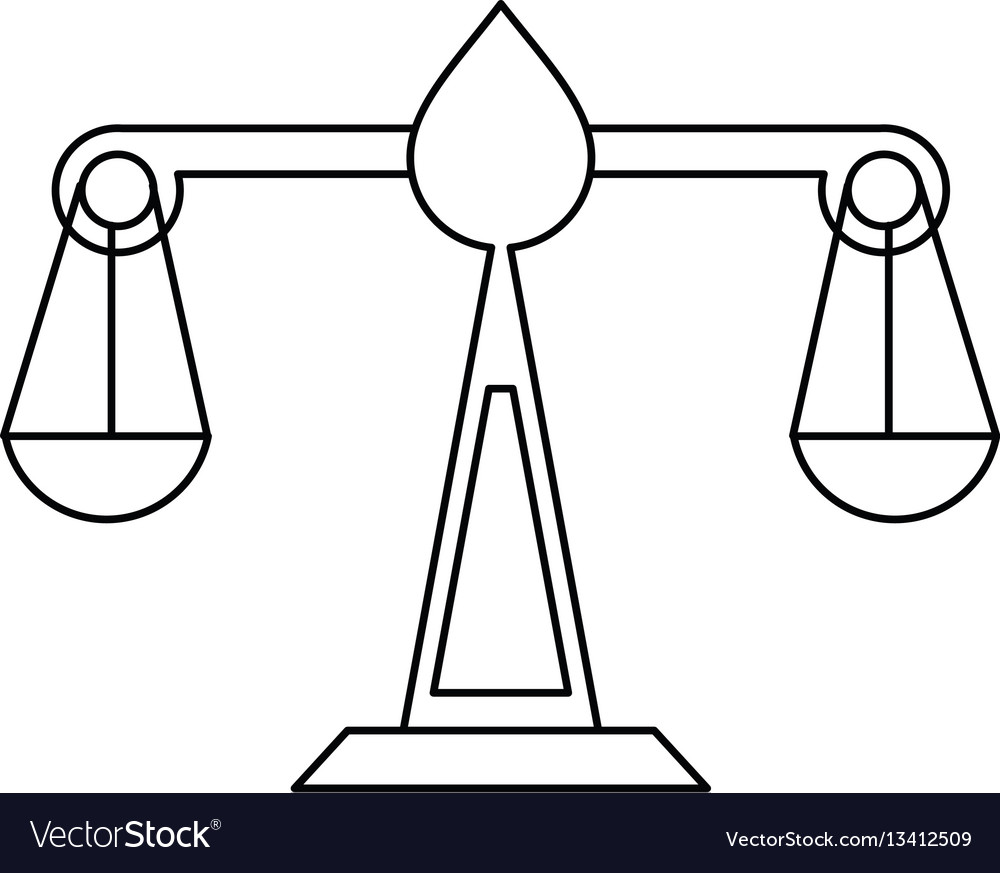 Justice scale law symbol thin line