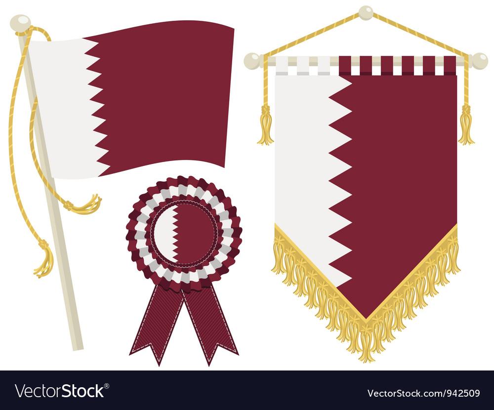 Qatar flags vector image