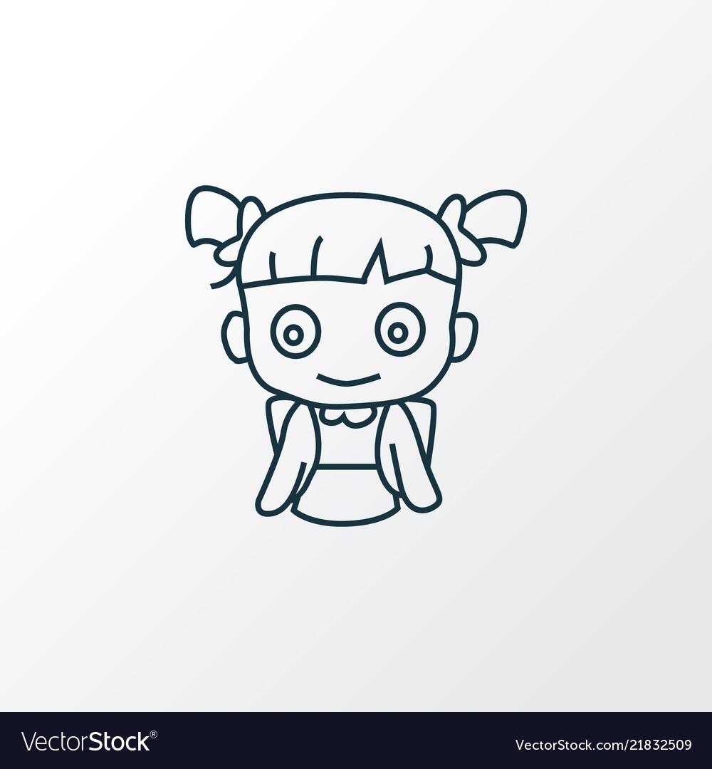 School girl icon line symbol premium quality