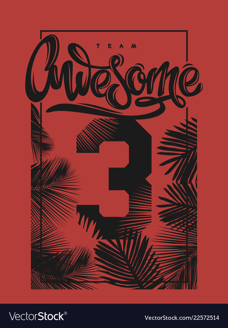 Awesome print poster tee shirt apparel cover