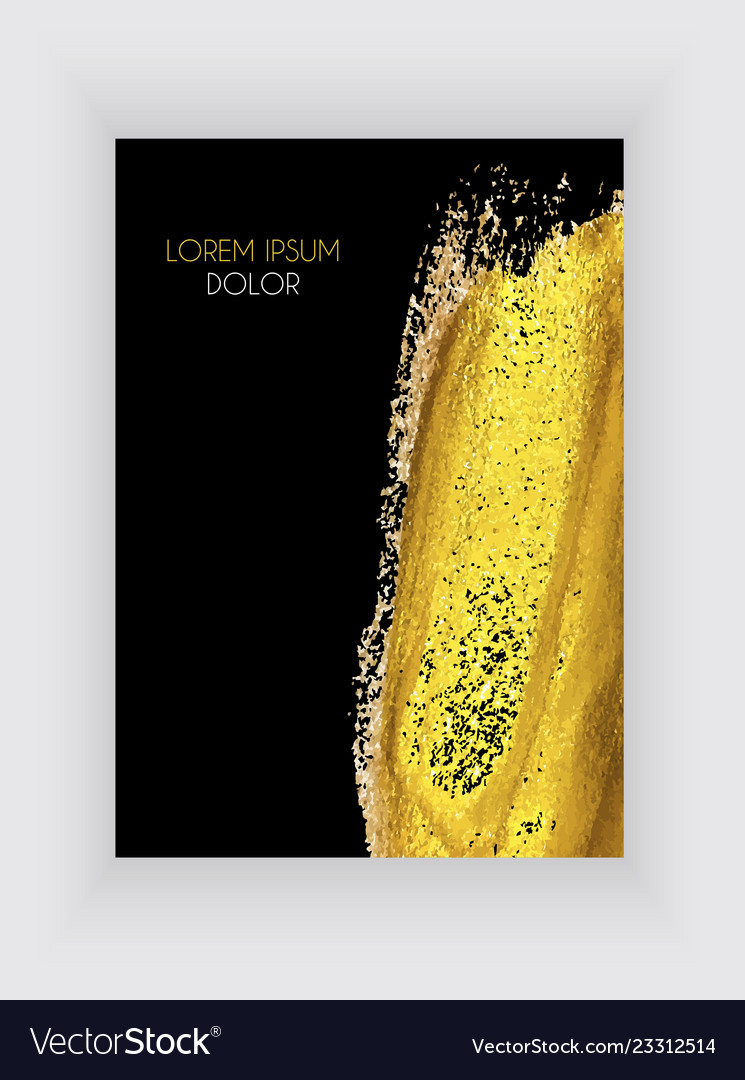 Black and gold design templates for brochures an