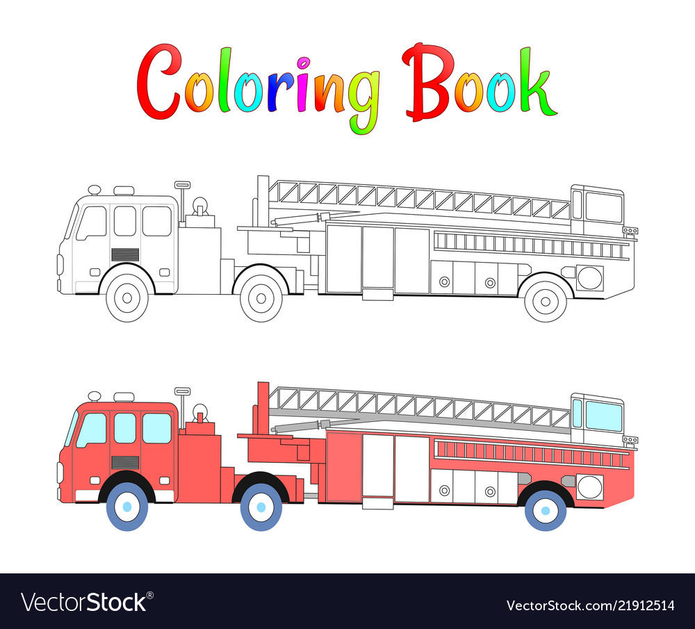 Fire truck coloring book coloring pages