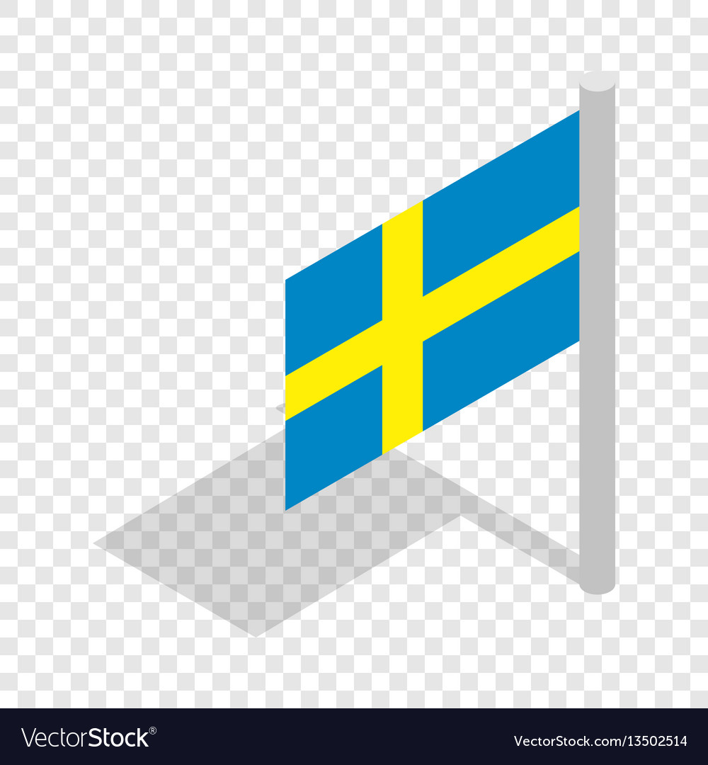 Flag of sweden isometric icon
