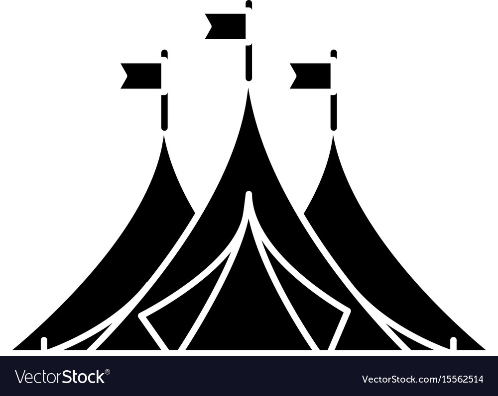 Shelter tents icon