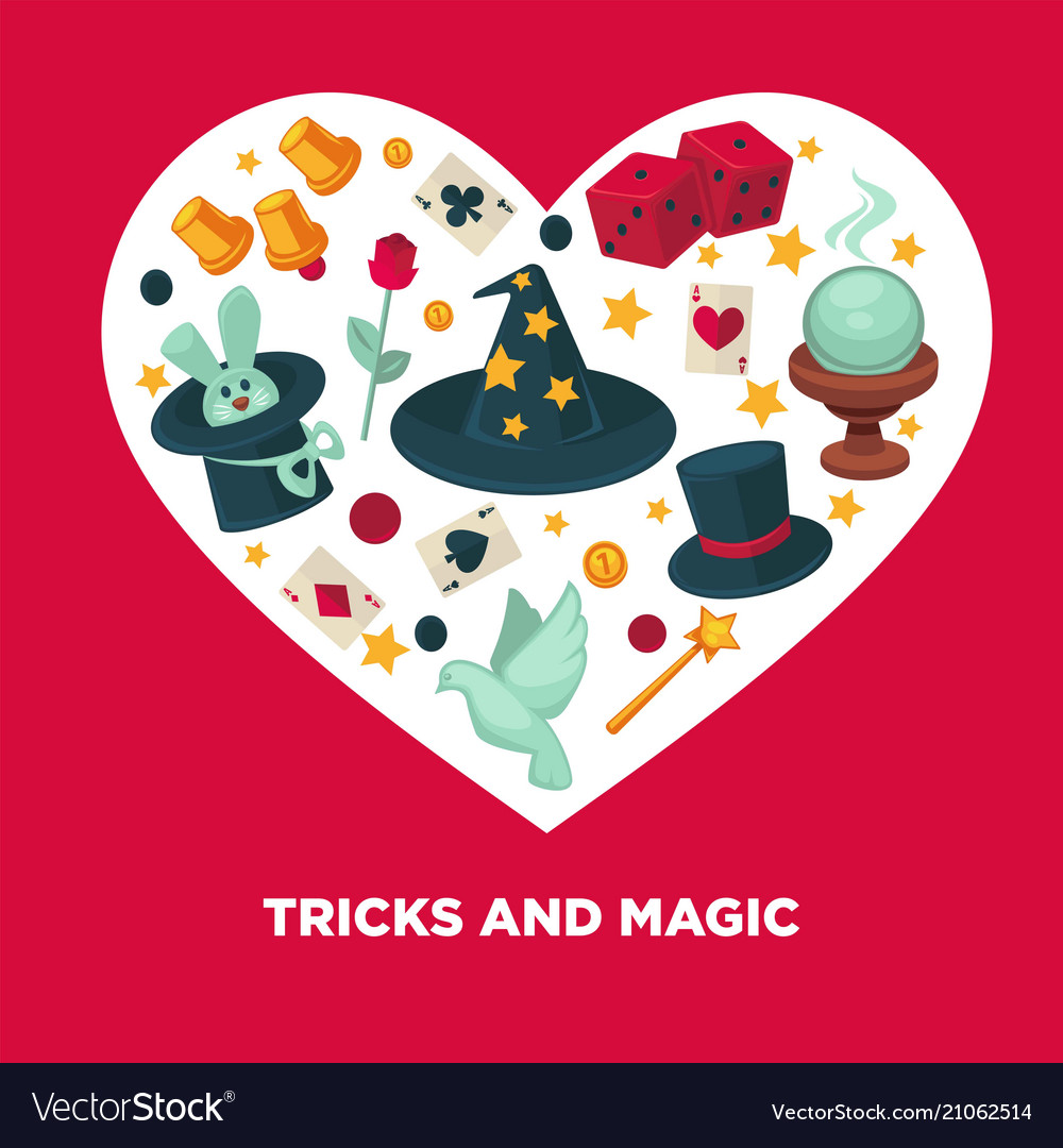 Tricks and magic heart poster