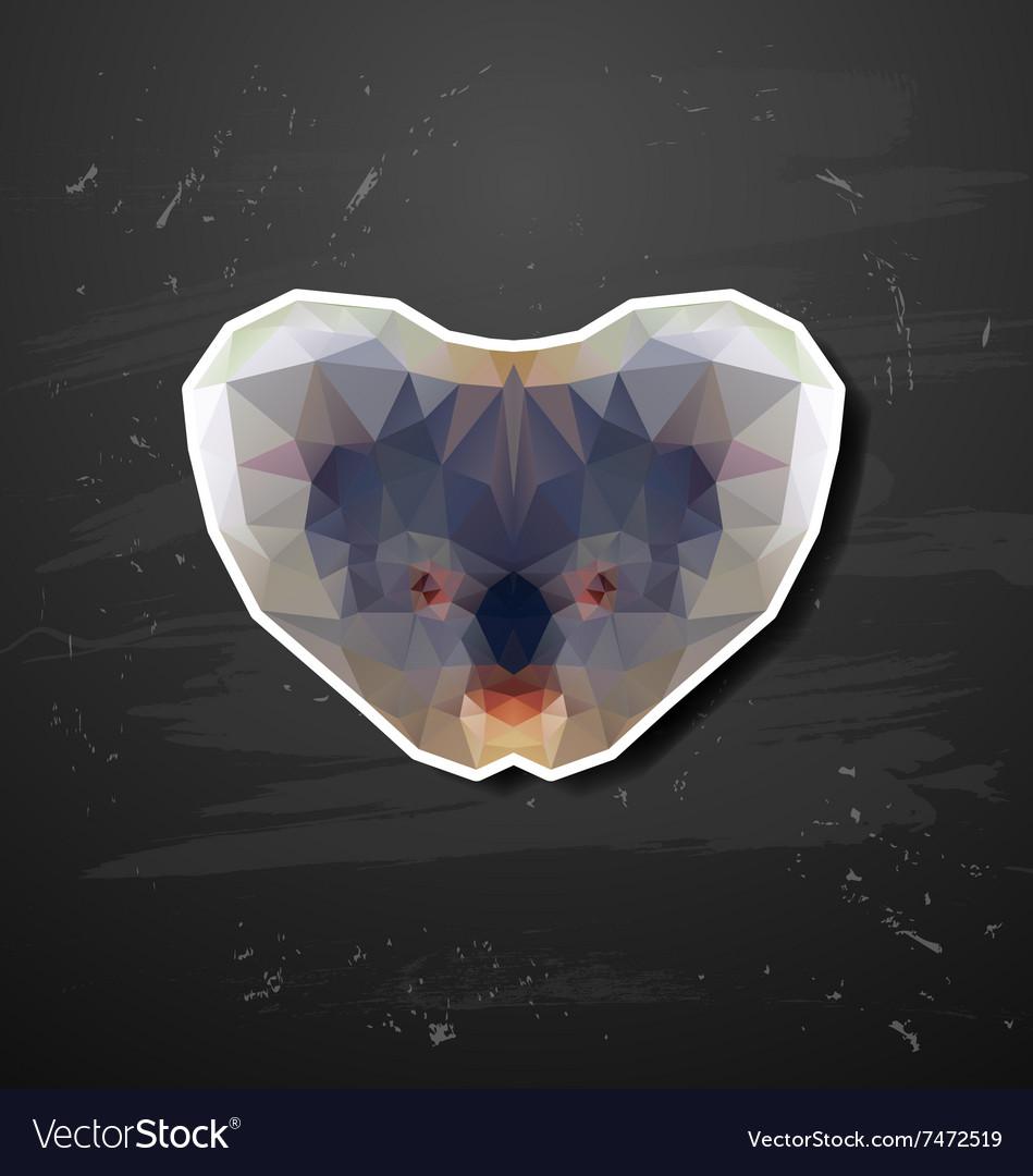 Abstract triangle polygonal koala abstract