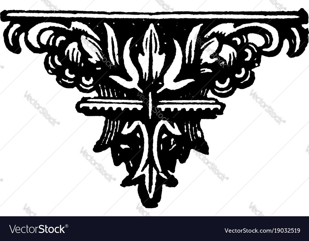 Decorative footer is a dark flower design vintage