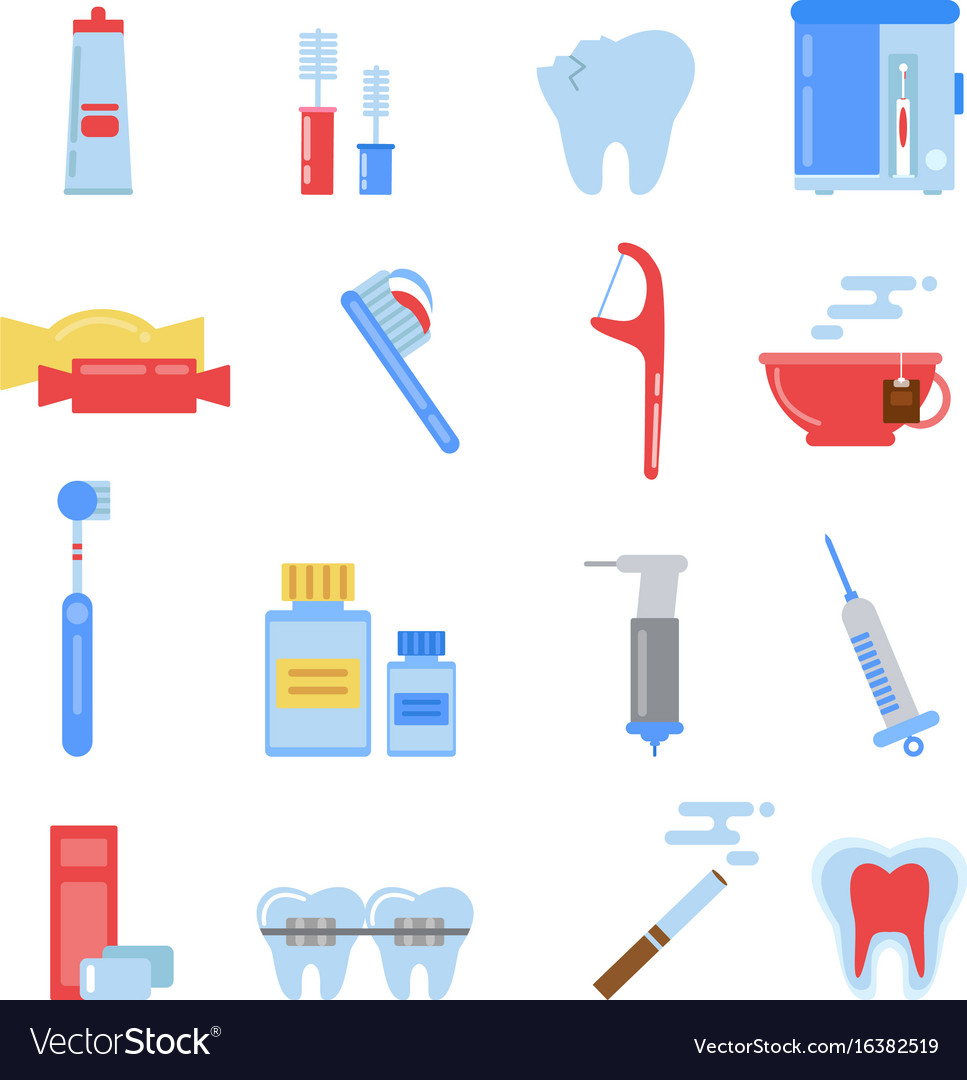 Healthcare in flat style dental