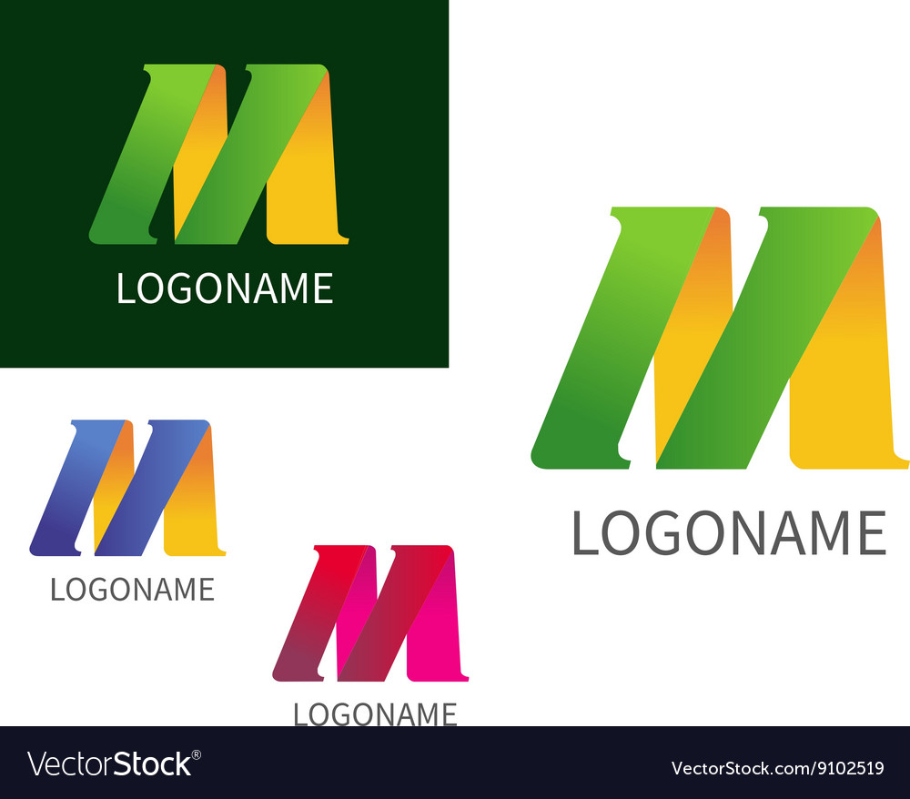 Letter M logo for Business vector image