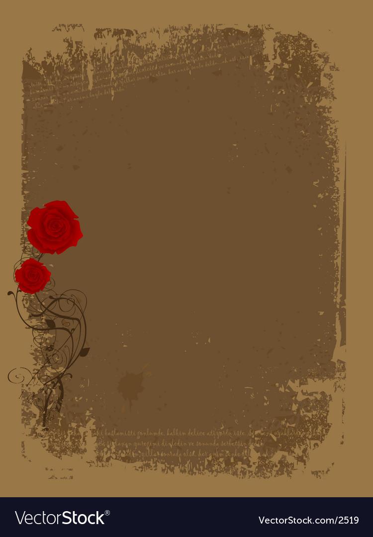 Rose grunge vector image