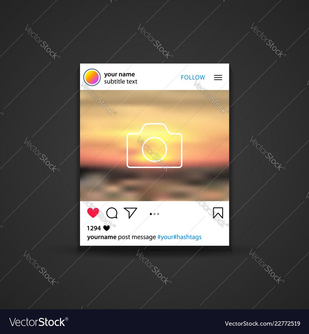 Social networks post mockup