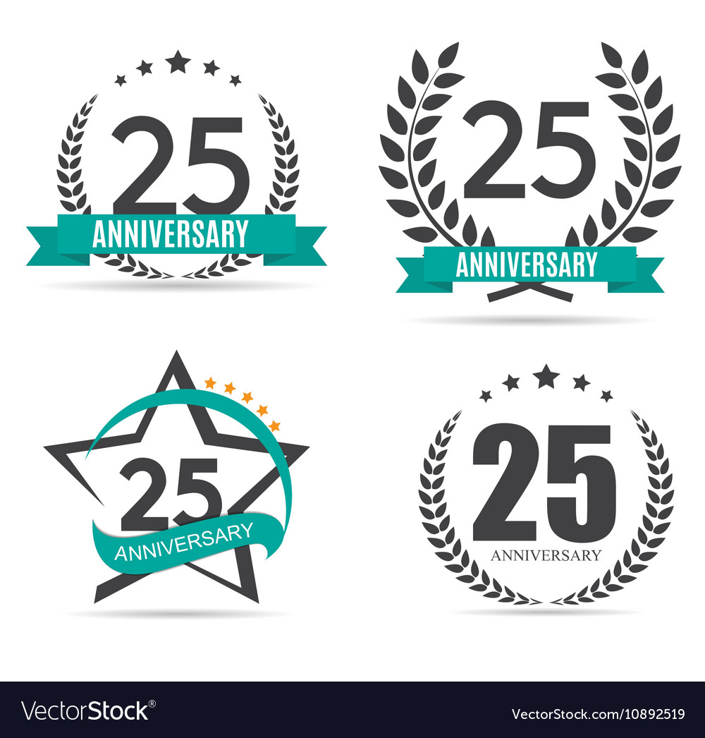 template logo 25 years anniversary royalty free vector image rh vectorstock com 25 years lego 25 years logo psd