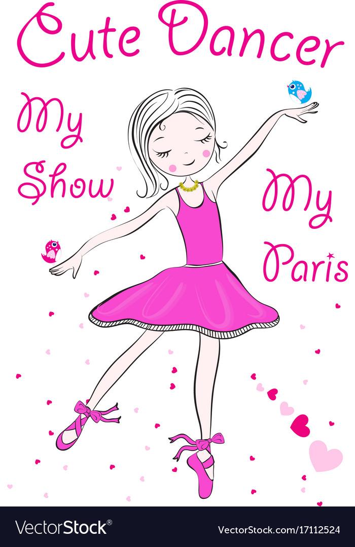 A happy little fairy ballerina vector image