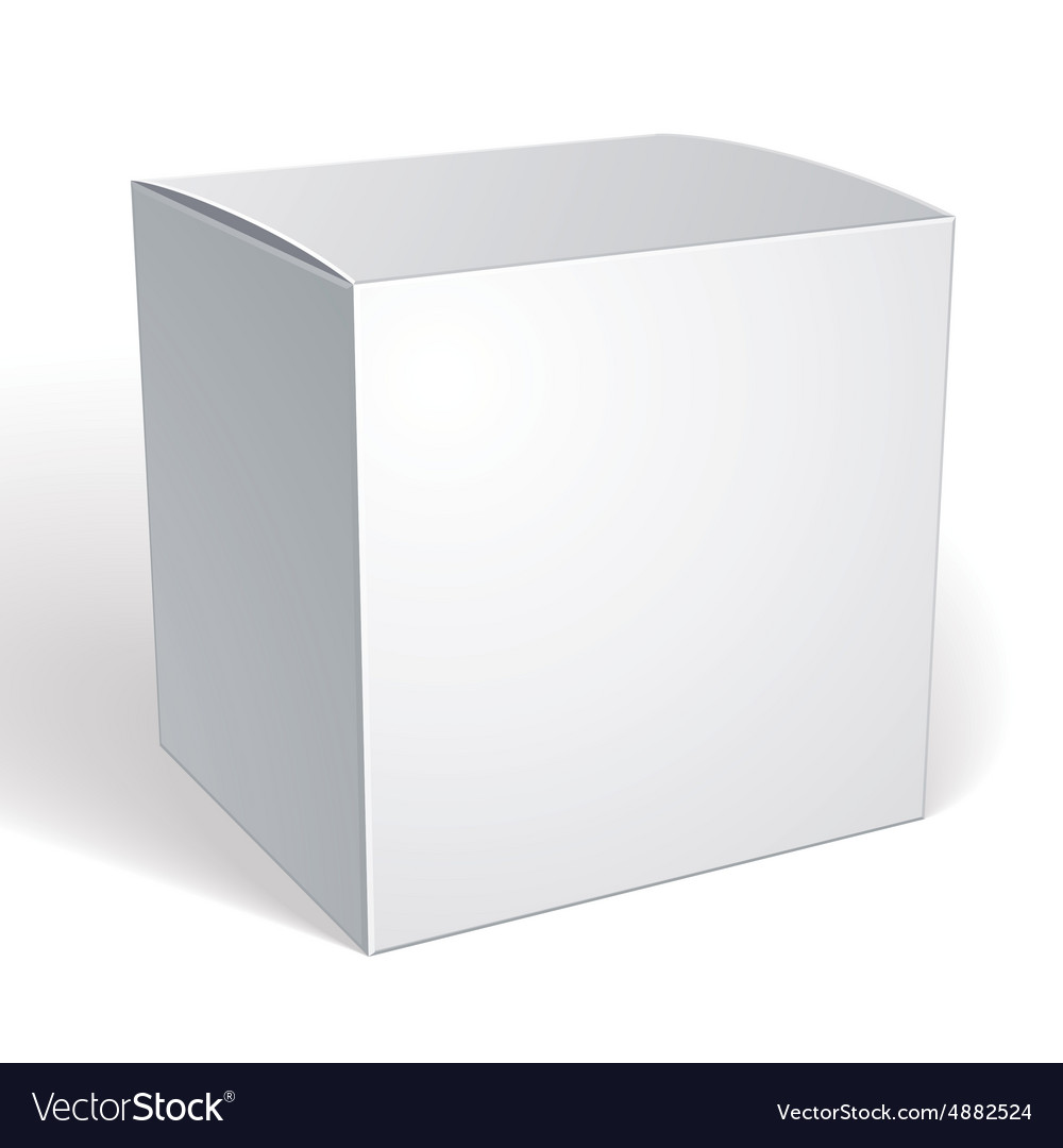 Blank box isolated on white background template