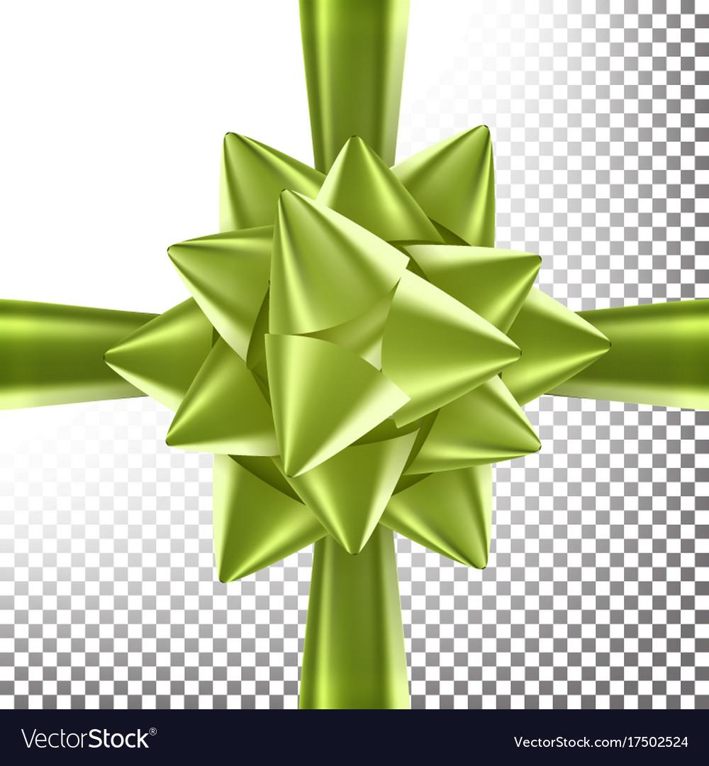 Box bow ribbon bright ribbon design vector image