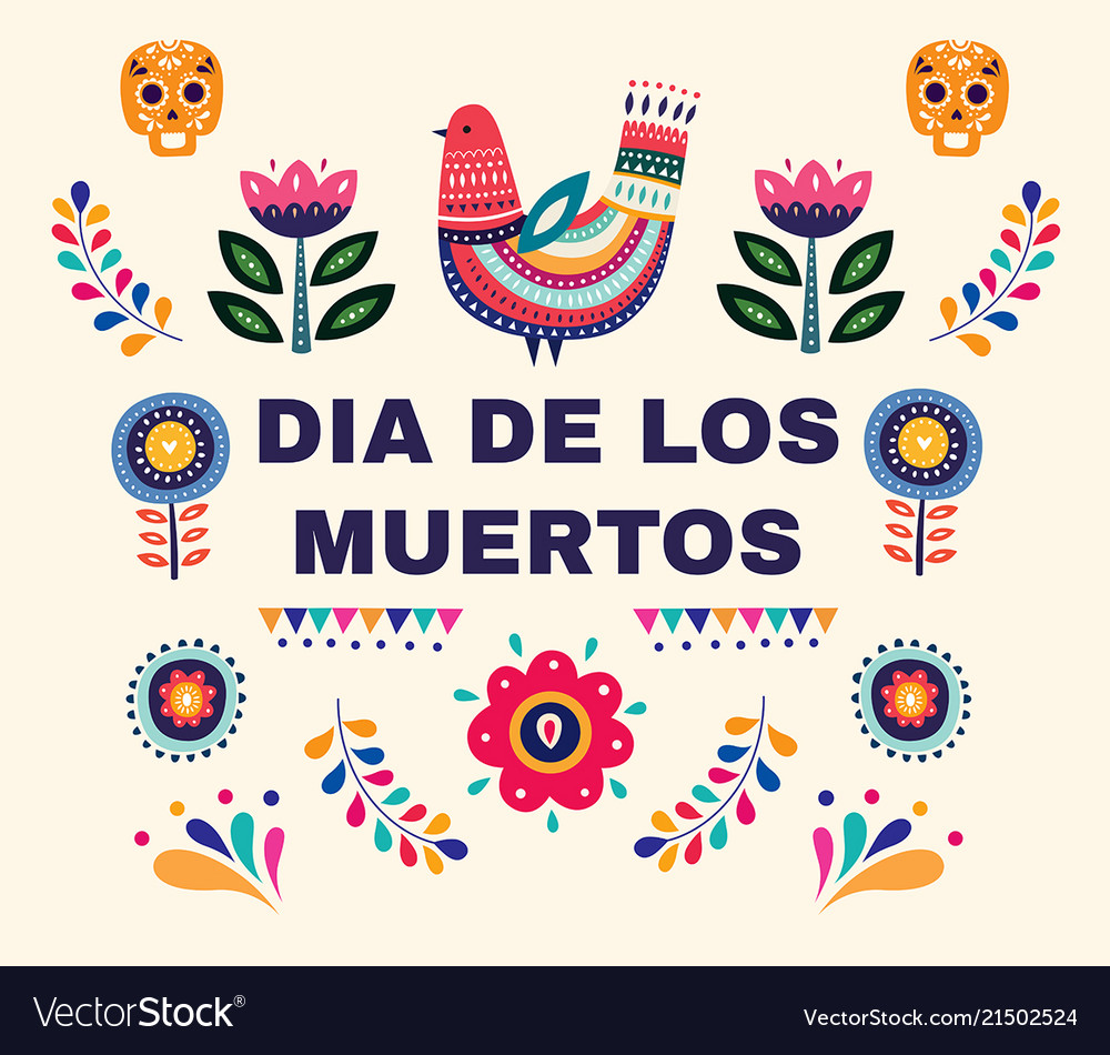 Design for mexican holiday day of the dead