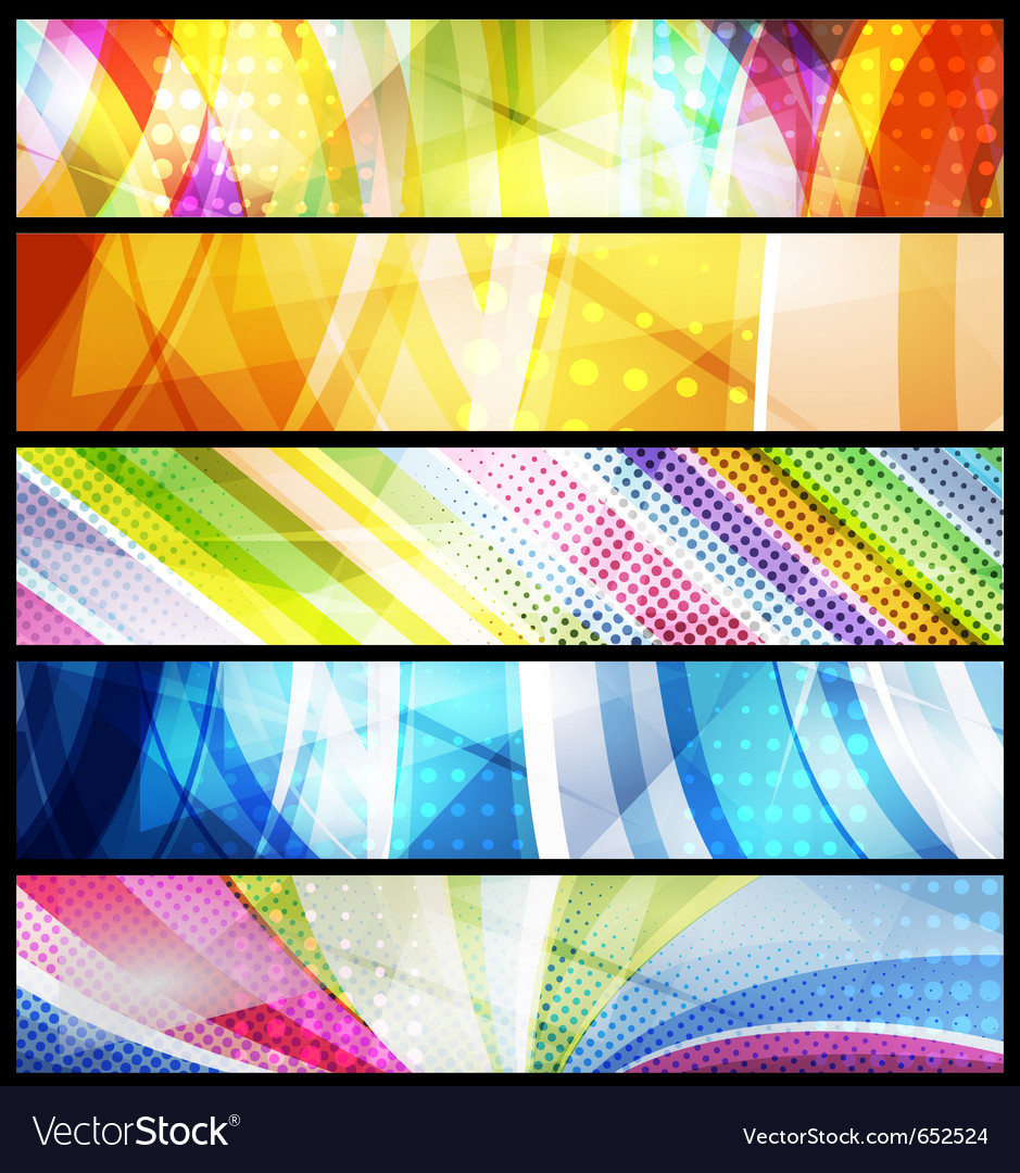 Five abstract banners
