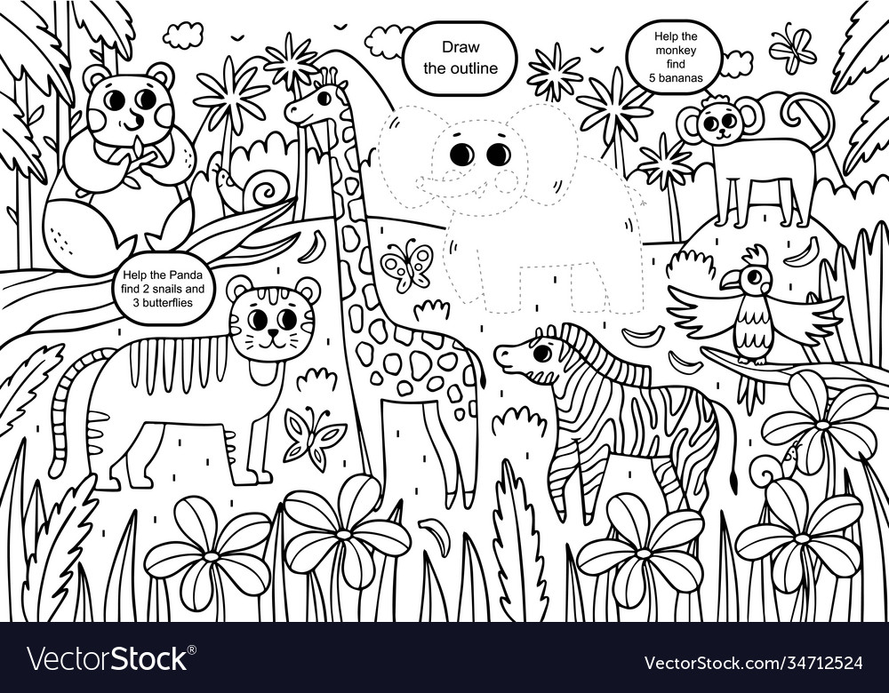 Fun coloring book for kids