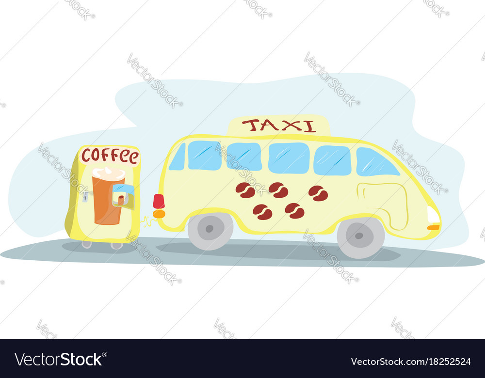 Hot drink for comfortable road vector image