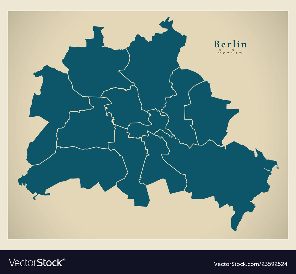 Berlin Map Of Germany.Modern City Map Berlin City Of Germany With