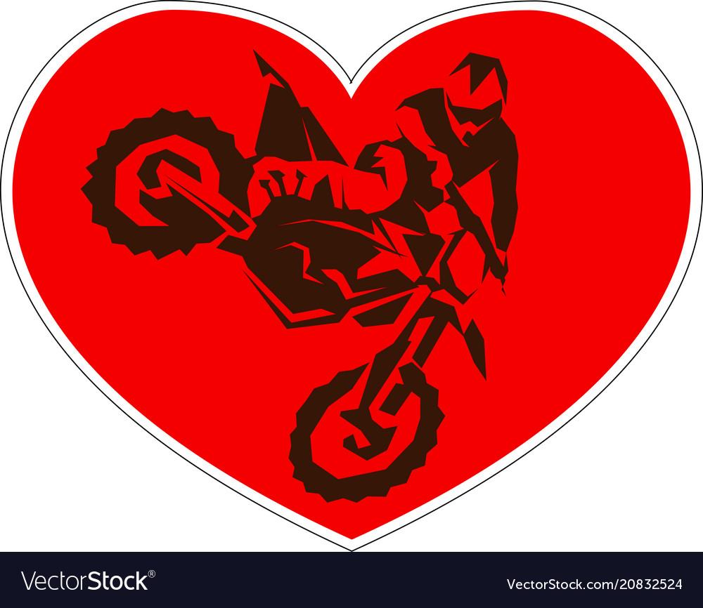 Motocross drivers silhouette