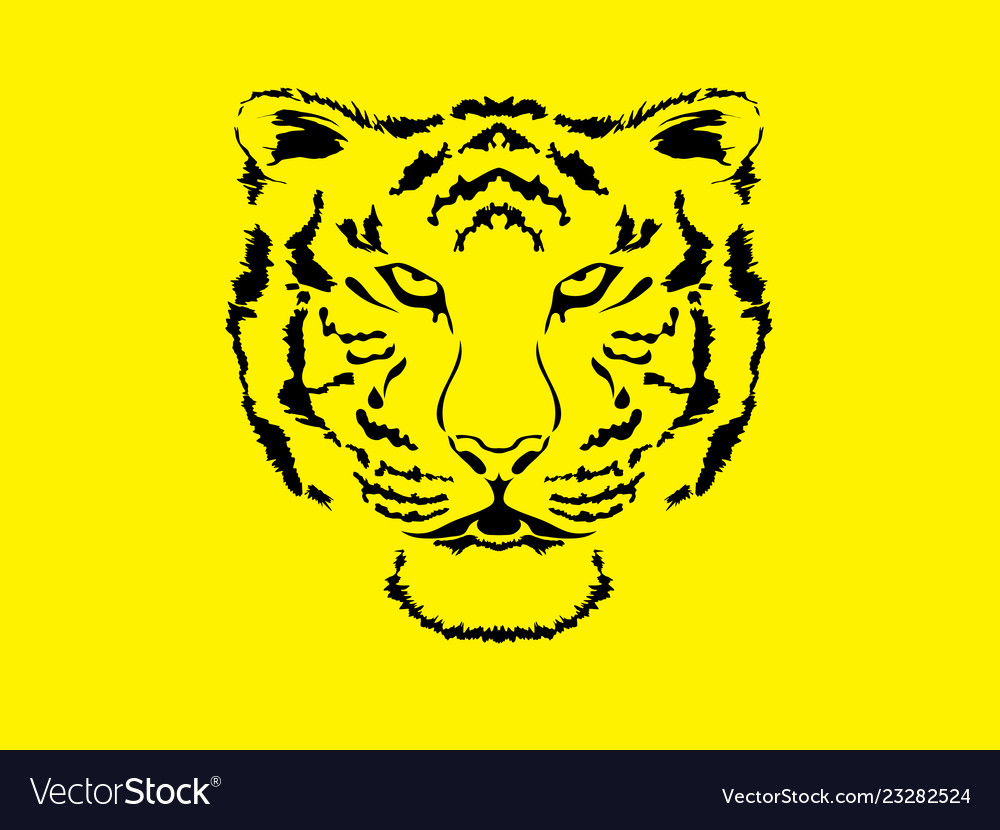 Tiger head wild hungry cat icon