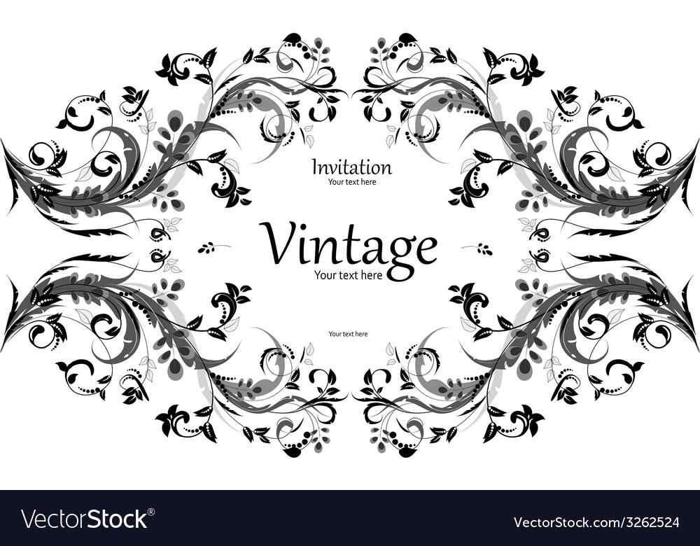 Vintage frame for your design