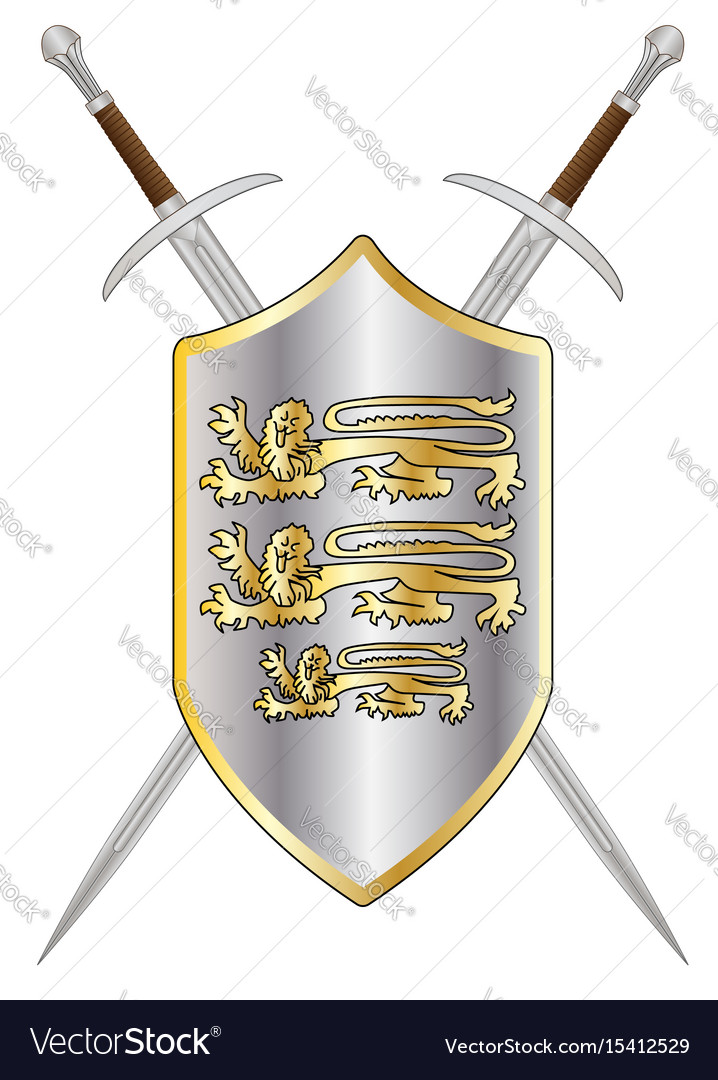 Crossed swords and shield