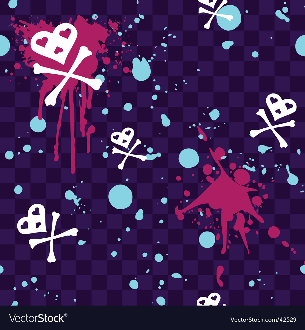 Emo seamless pattern with paint-splatters