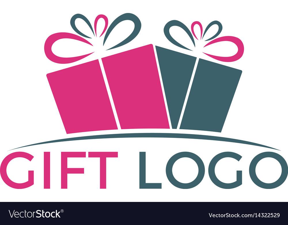 Gift box logo design vector image