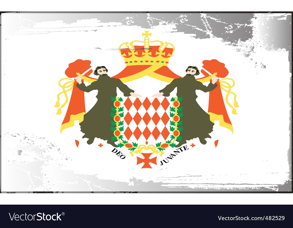 Monaco national flag vector image