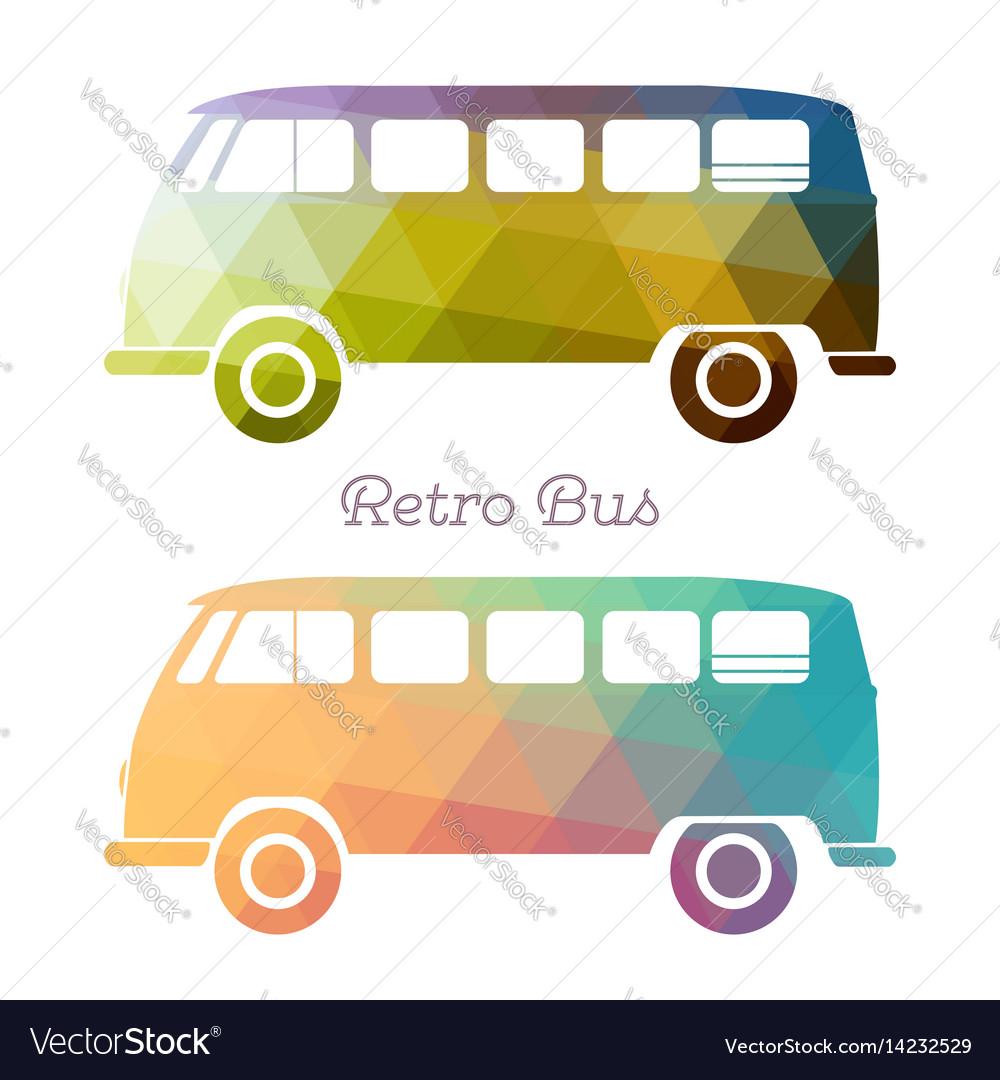 Retro multicolor bus