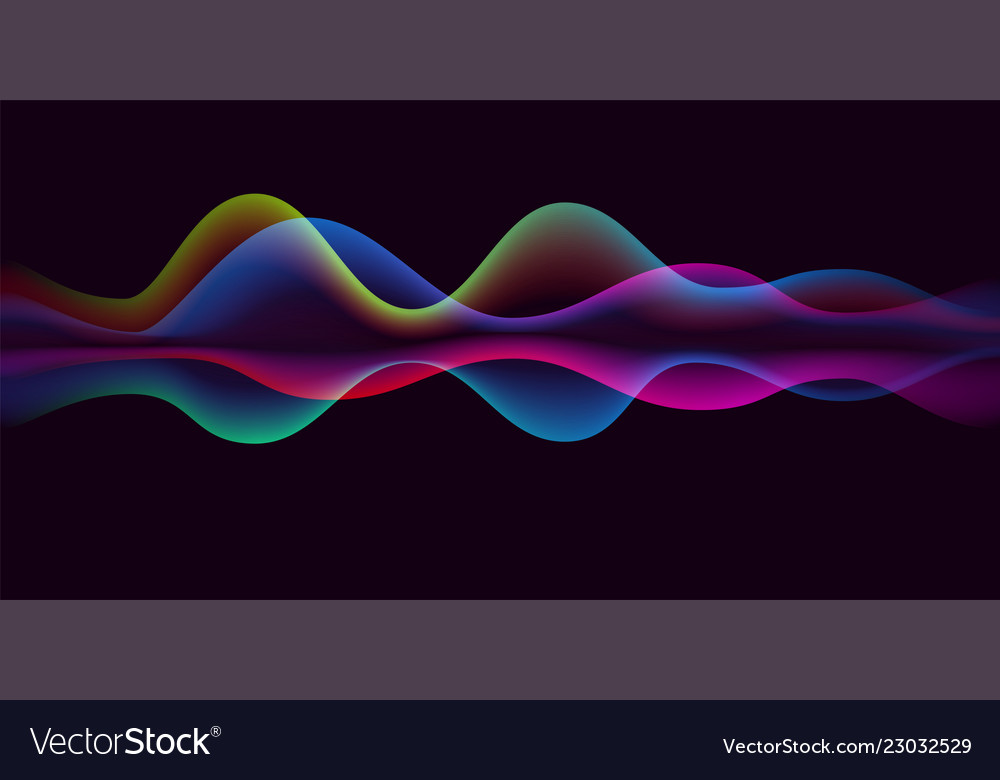 Sound wave voice line or pulse abstract background
