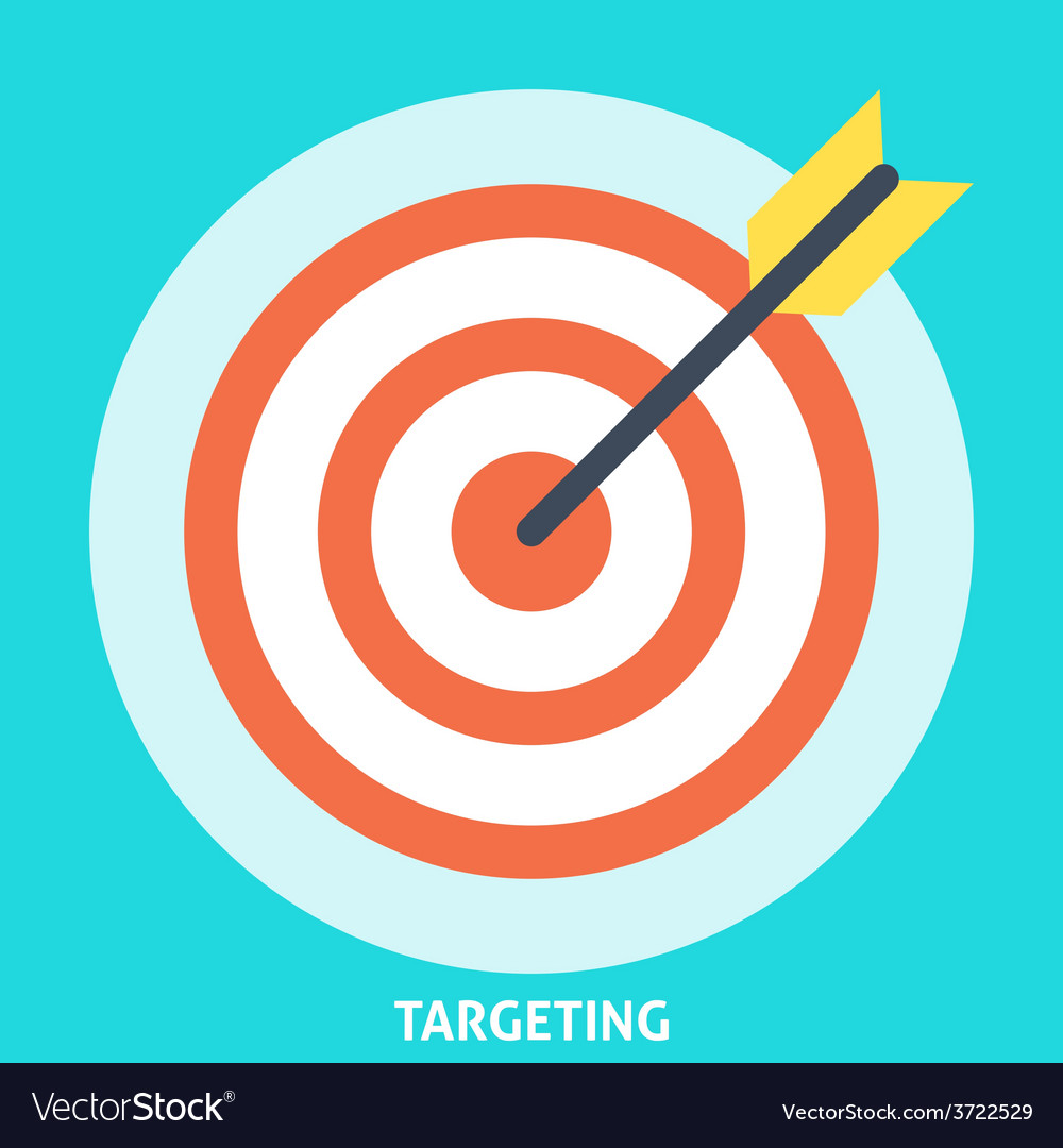 Targeting Icon Flat vector image