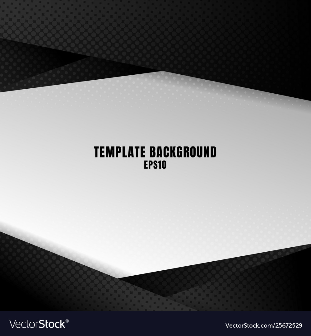 Template black and white geometric background