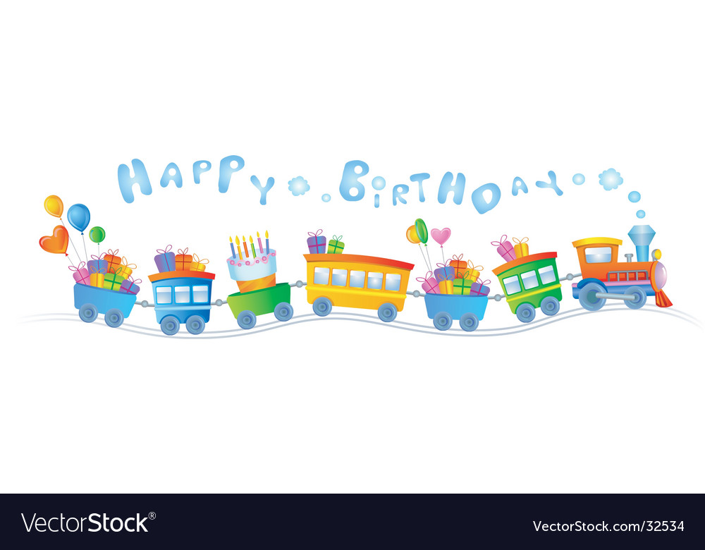 Birthday train vector image