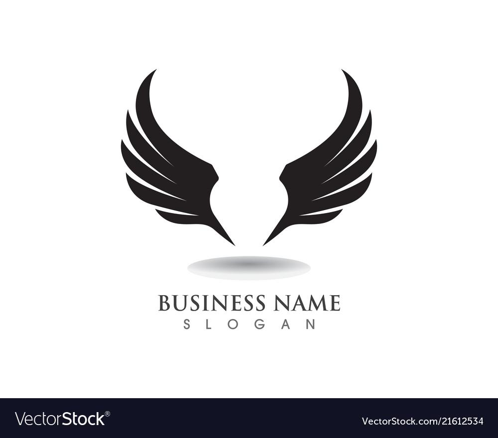 Eagle Wing Falcon Logo And Symbols Template Vector Image