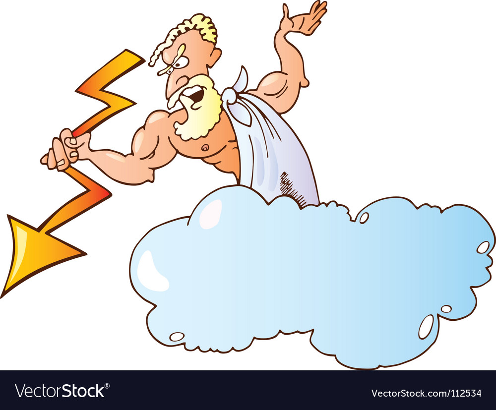 Greek god zeus vector image