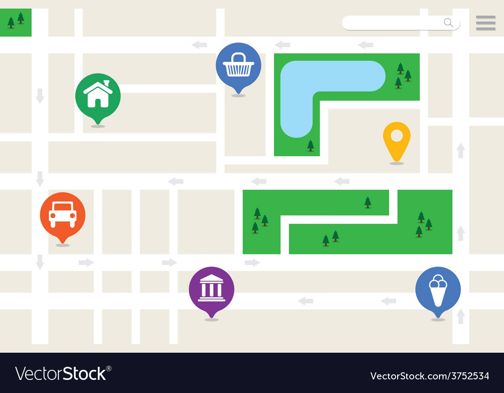 Imaginary City Map vector image