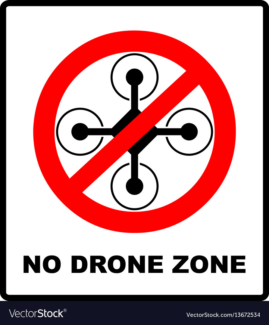 No fly drones sign no fly zone drone sign