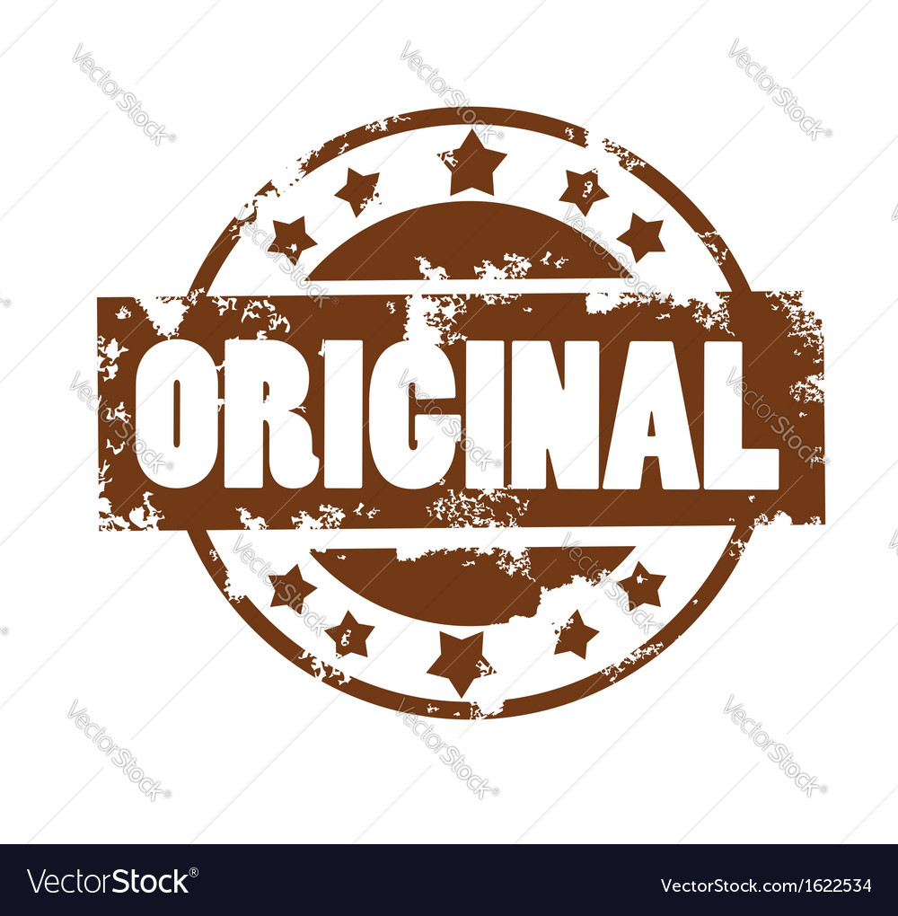 Original stamp vector image