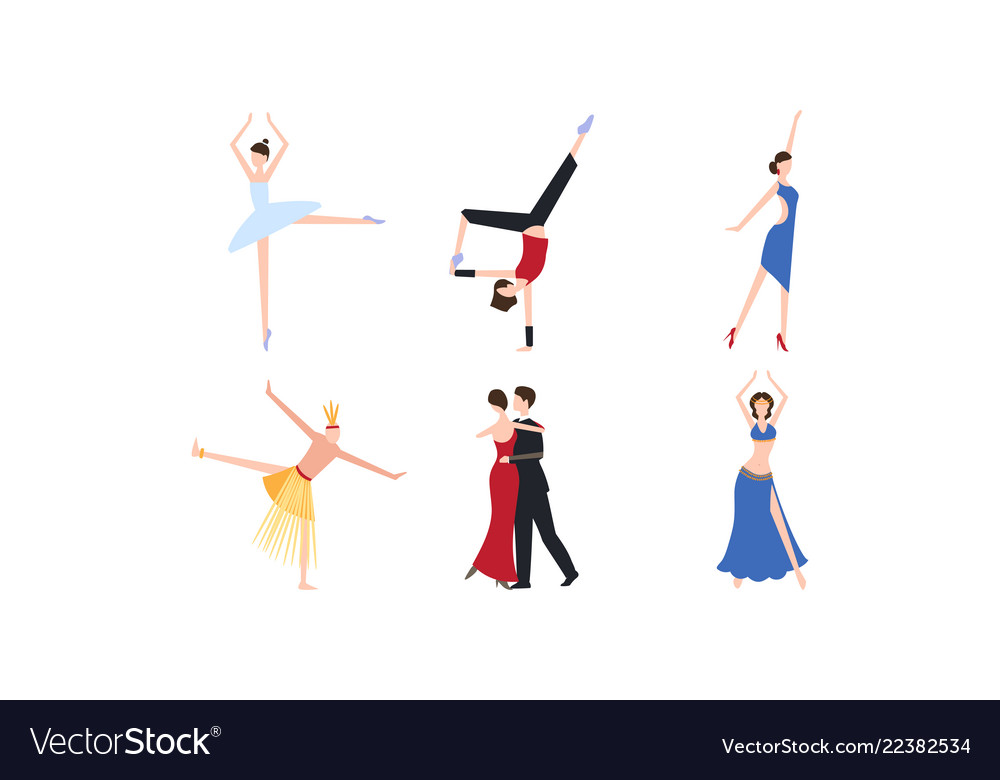 Professional dancers dancing classical modern and