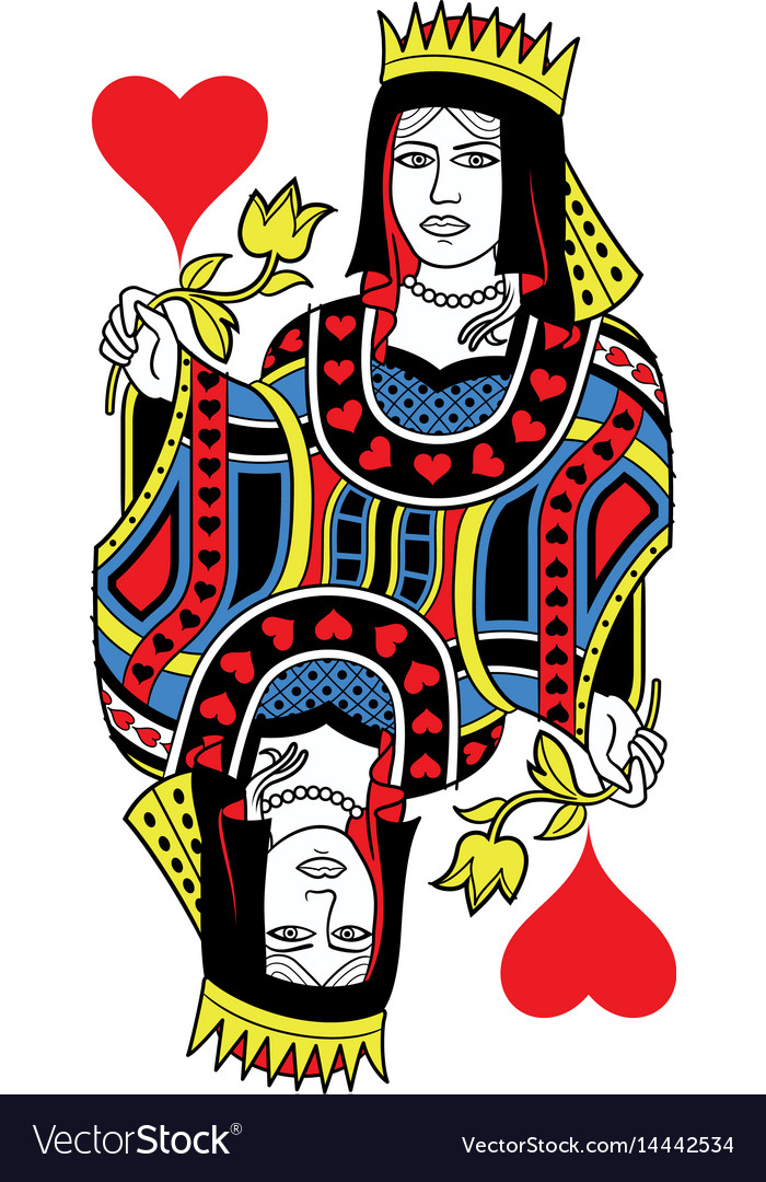 Queen of hearts isolated french version