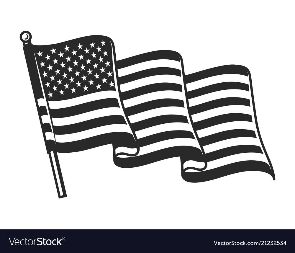 United states waving flag concept