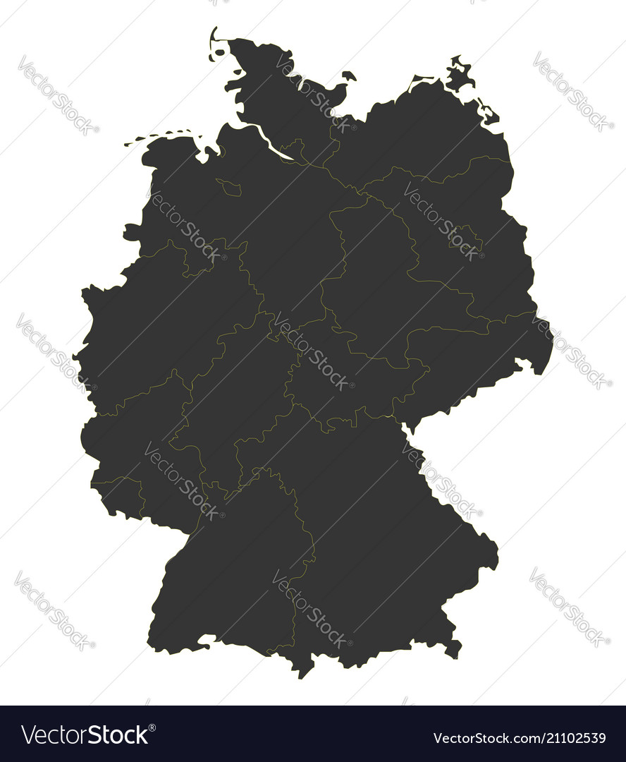 Black map of germany