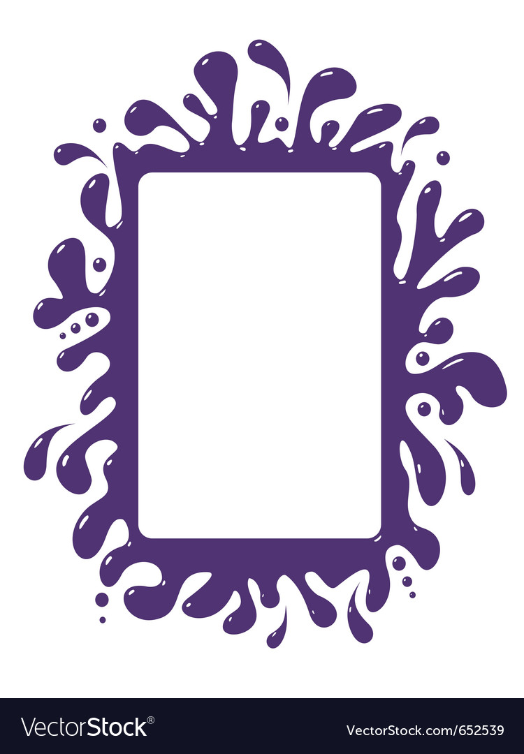 Blot frame pattern isolated vector