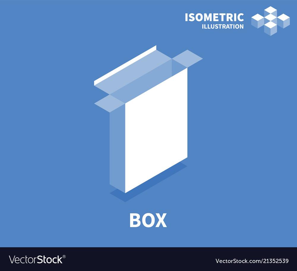 Box icon isometric template for web design