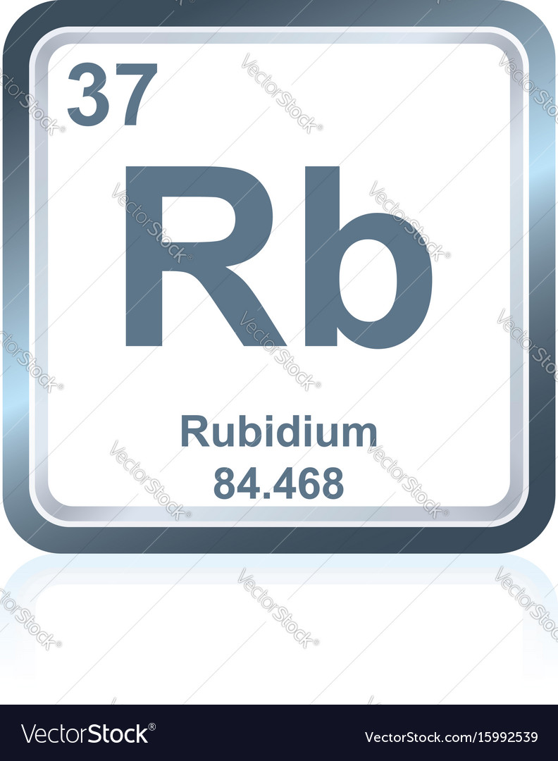 Chemical Element Rubidium From The Periodic Table Vector Image