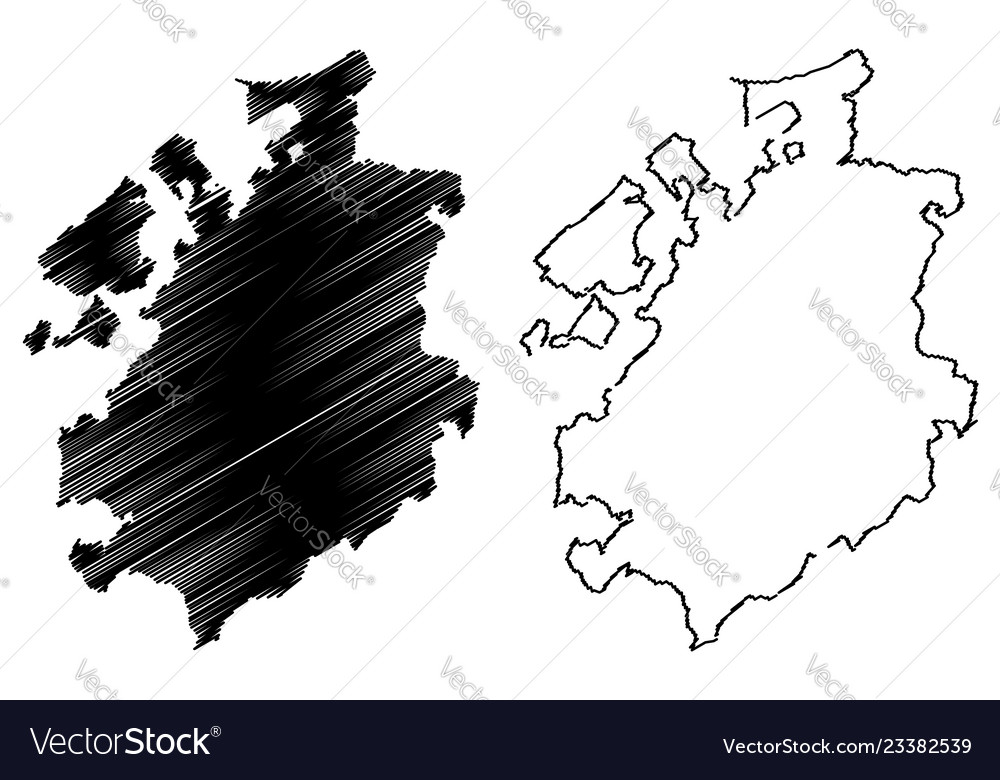 Fribourg map Vector Image