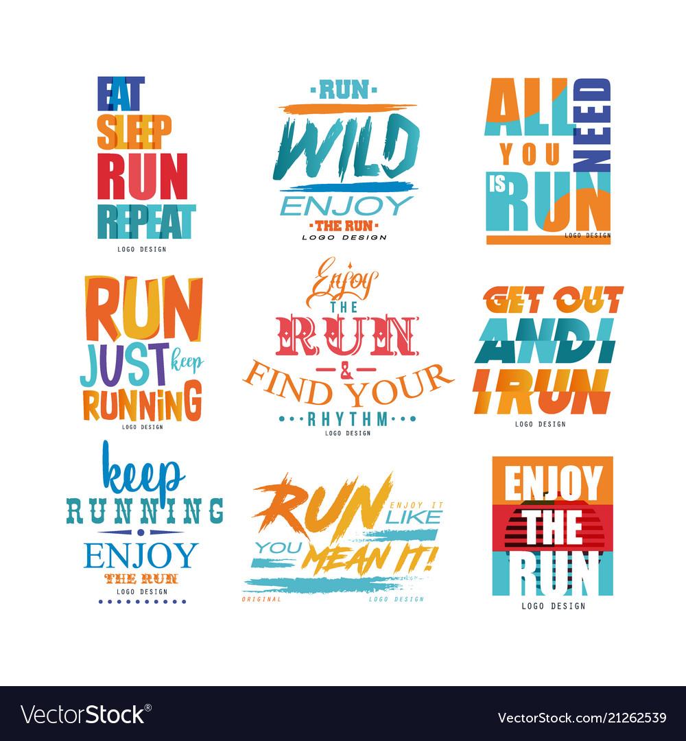Inspirational slogans set sport motivation